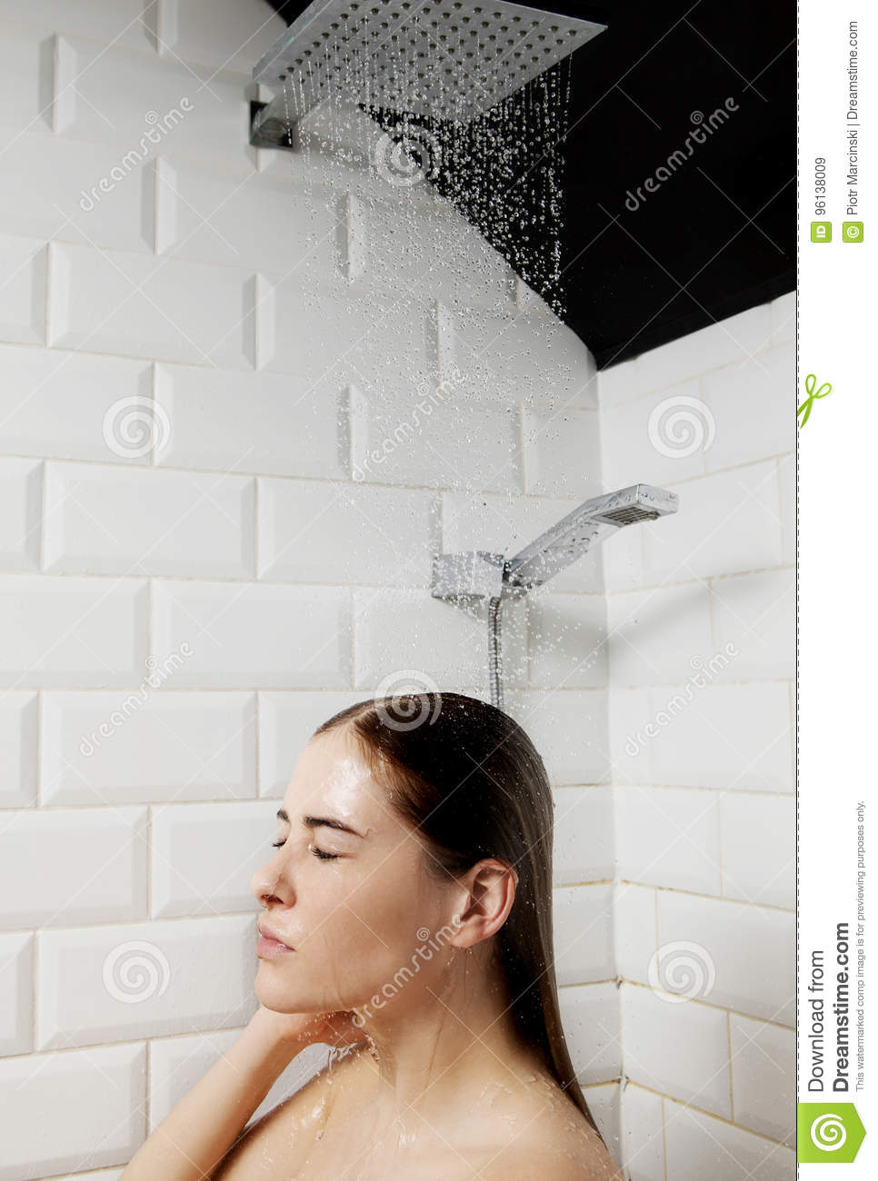 Feet females taking a shower with clothes on race teens