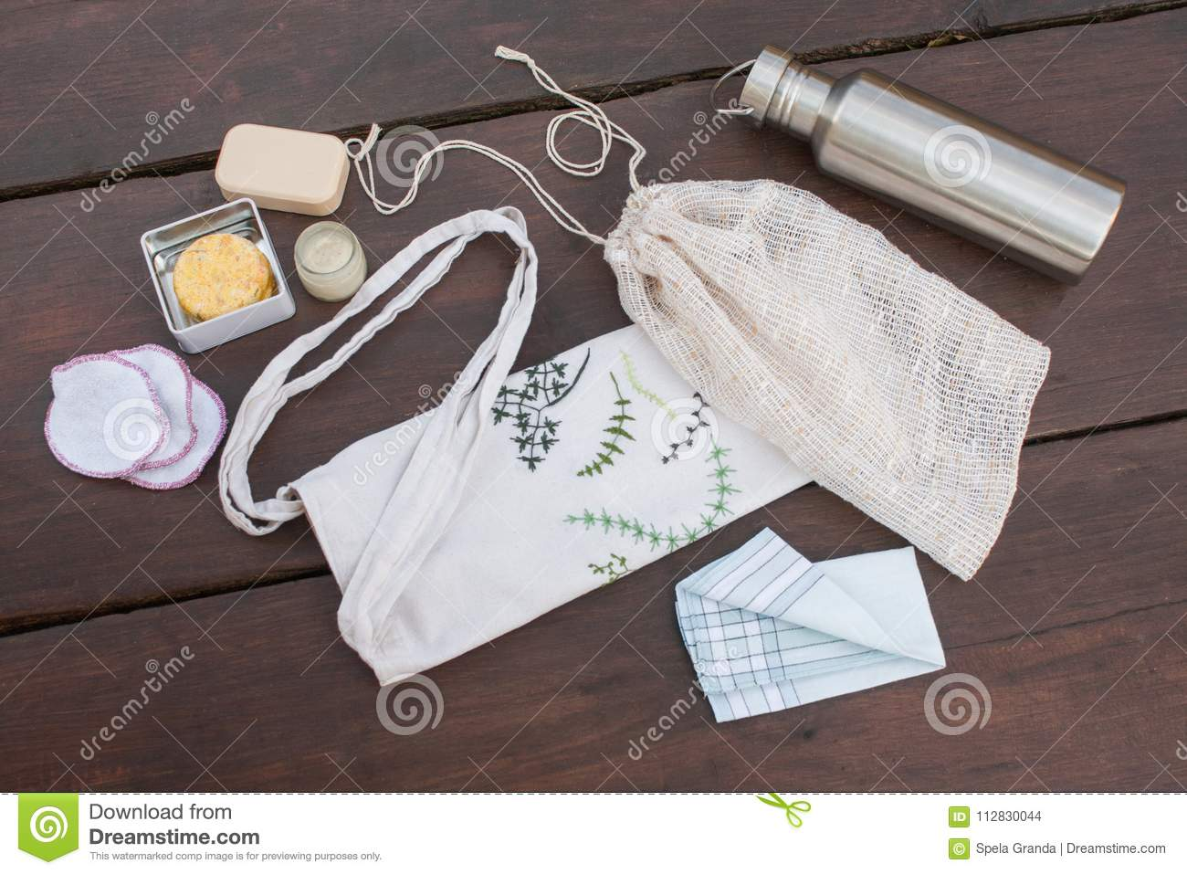Items necessary for zero waste/less waste shopping and living