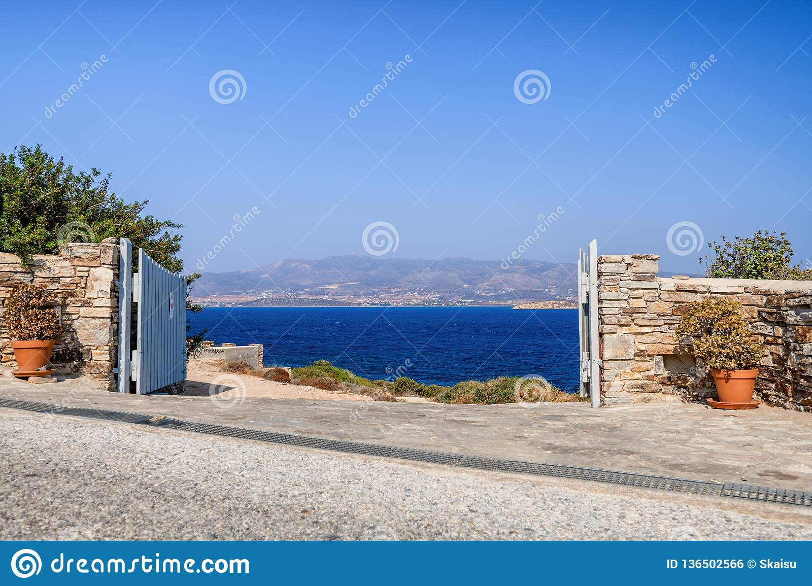 Beautiful nature of Antiparos island of Greece with crystal blue water and amazing views