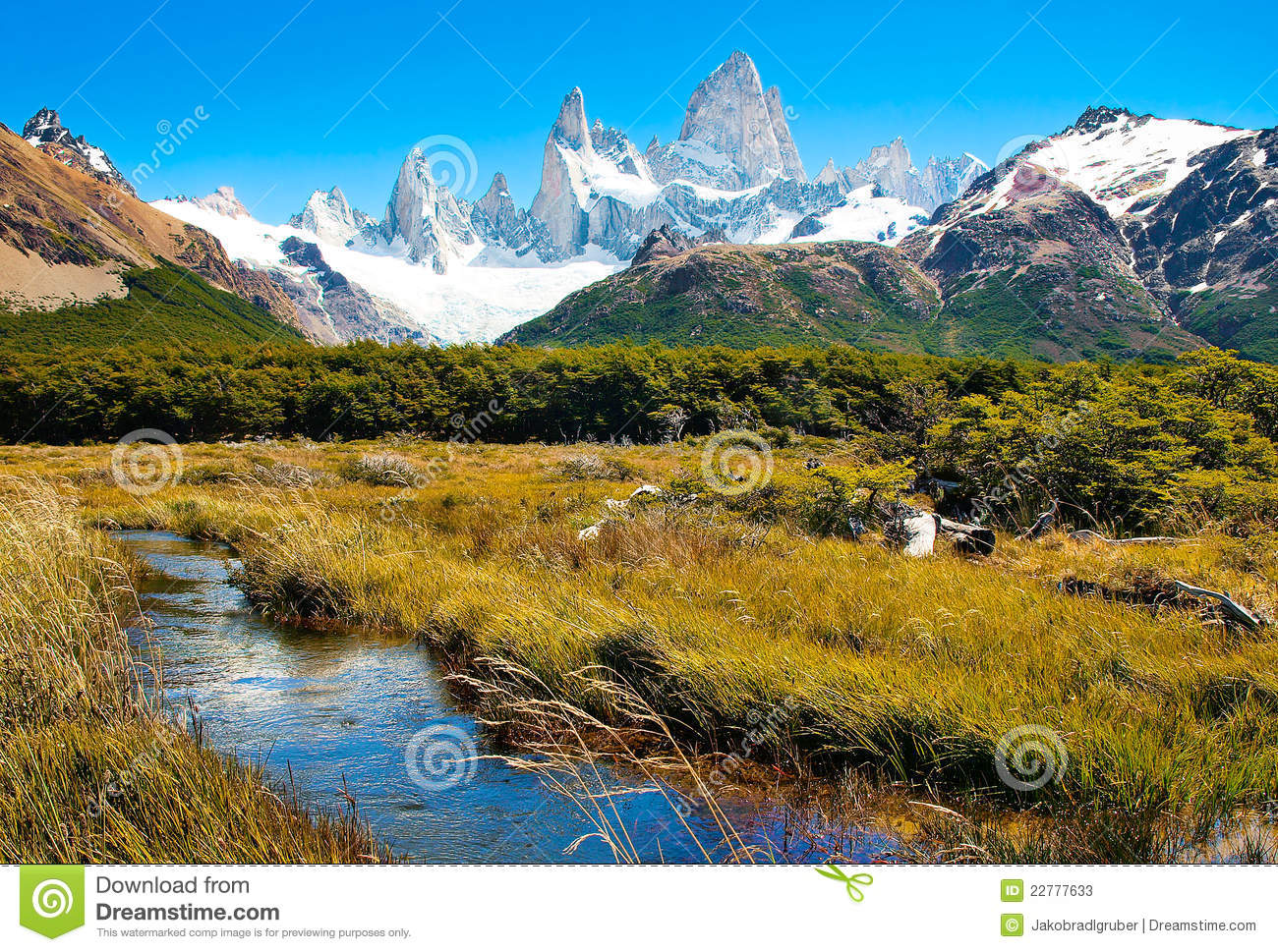 Beautiful nature landscape in Patagonia, Argentina