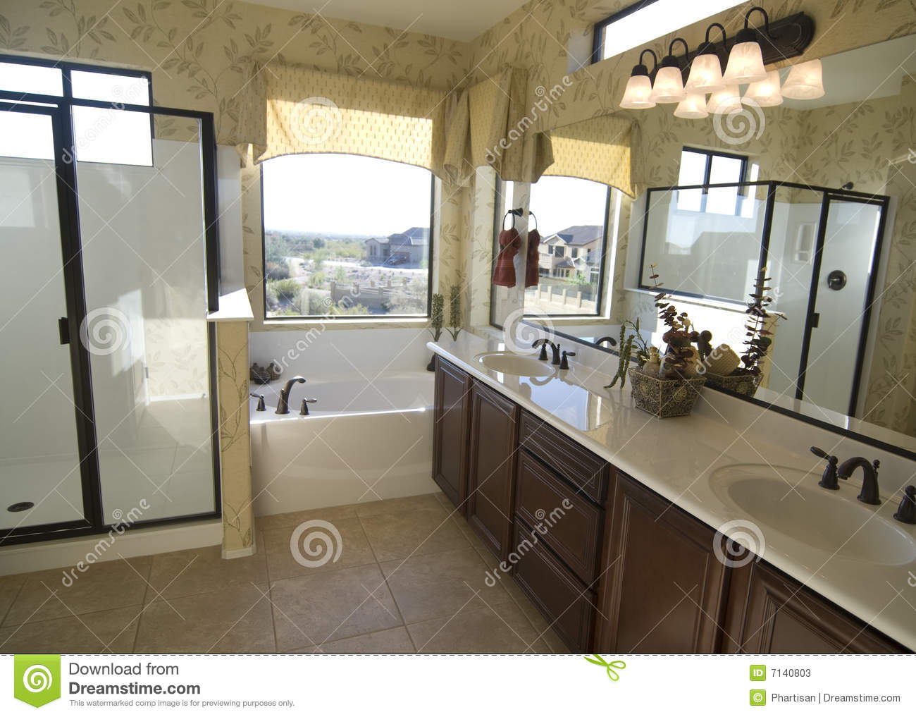 Stunning New Bathroom With Free Standing Tub And Walk In Shower In