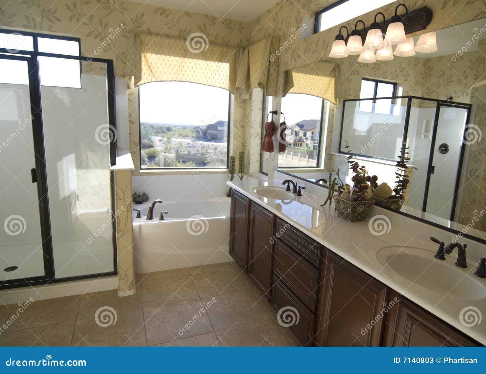 Beautiful new bathroom stock image image of indoor real 7140803 - Image of bath room ...