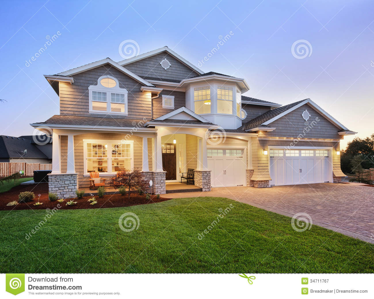 Beautiful new home exterior stock image image of luxury for Beautiful home photos