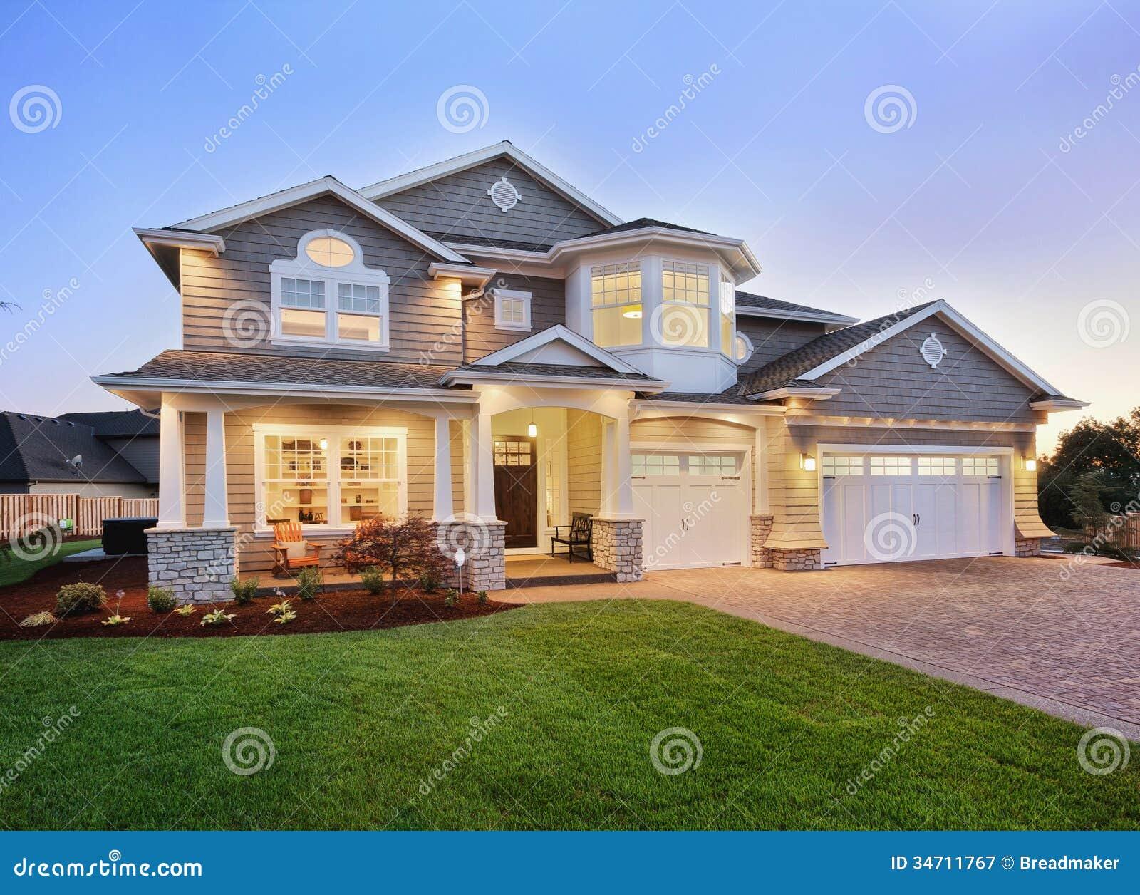 Modern luxury homes exterior -  Luxury Stone Homes Exterior