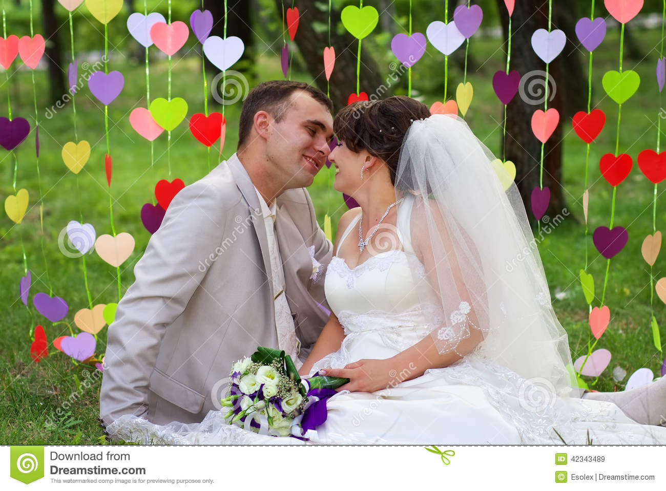 Beautiful newly married couple at the park stock image image of beautiful newly married couple at the park kristyandbryce Image collections