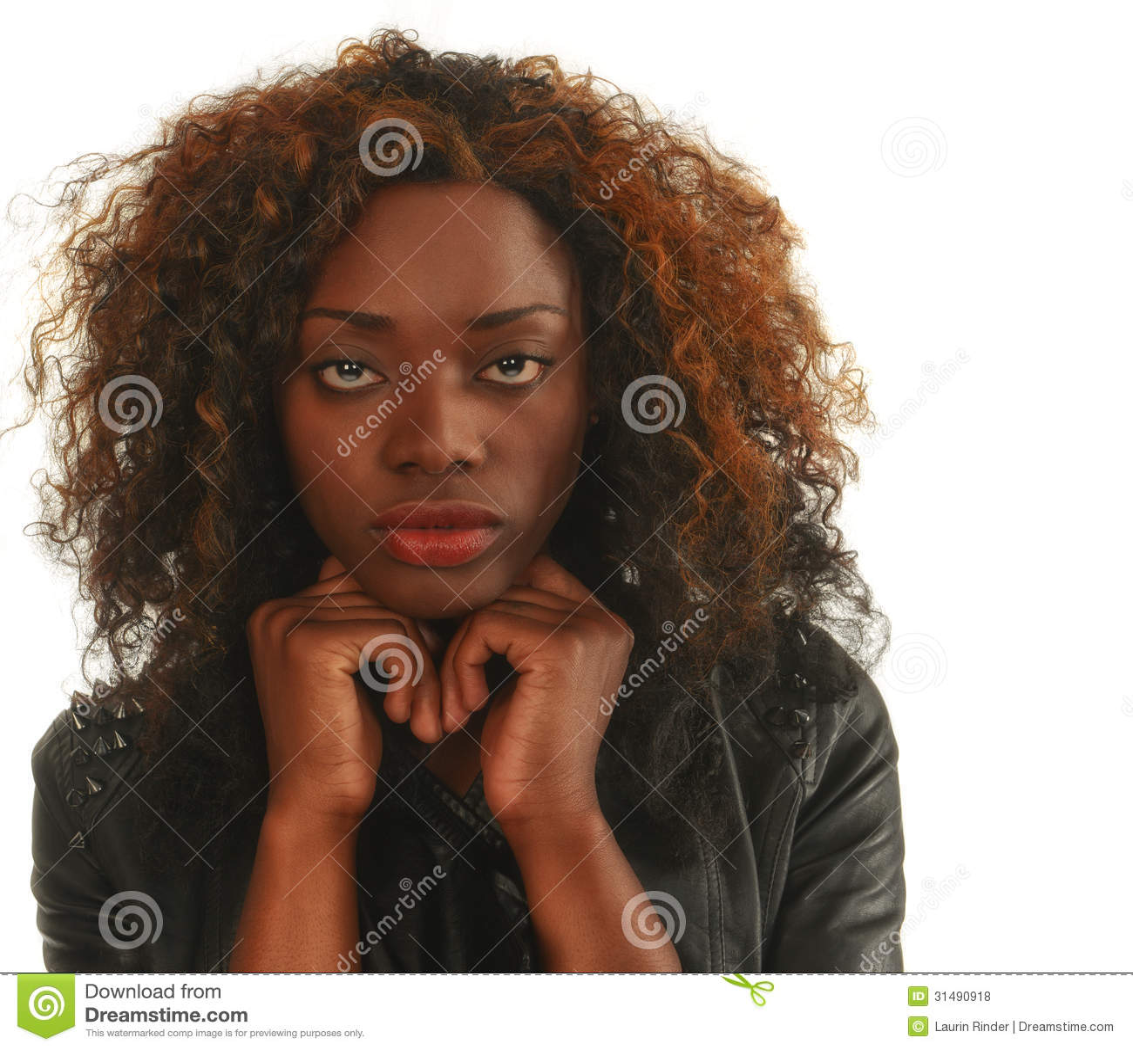 Beautiful Nigerian Woman Stock Photo Image Of Happy