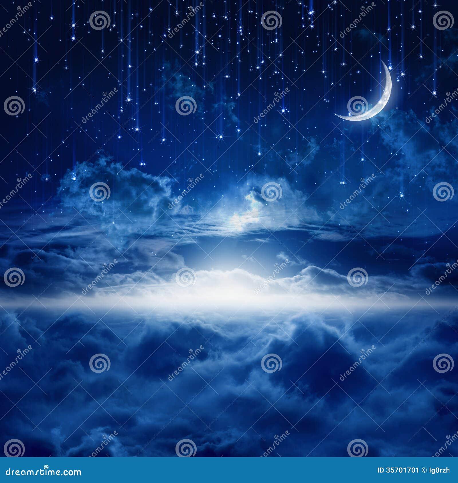 Beautiful Night Sky Stock Image Of Celestial Horizon