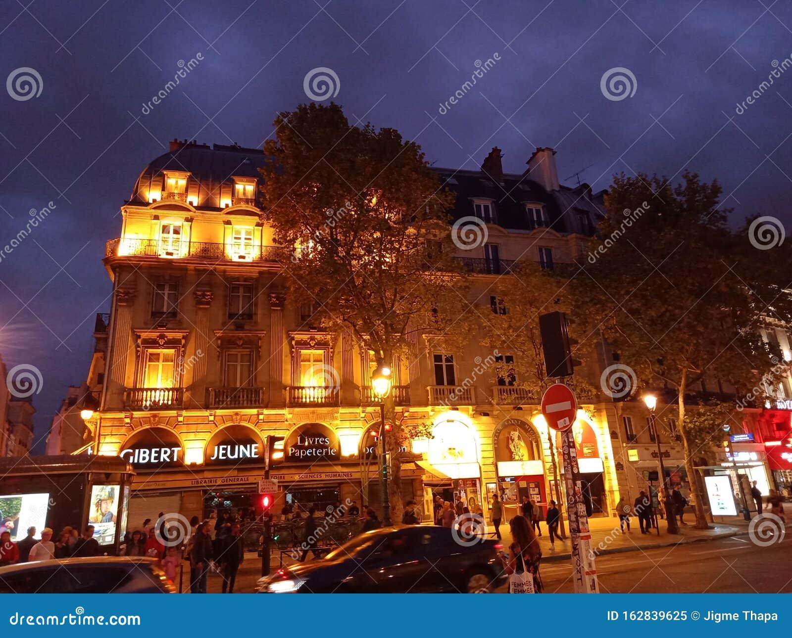 Beautiful Night View Of France Paris Editorial Image Image Of Beautiful Paris 162839625
