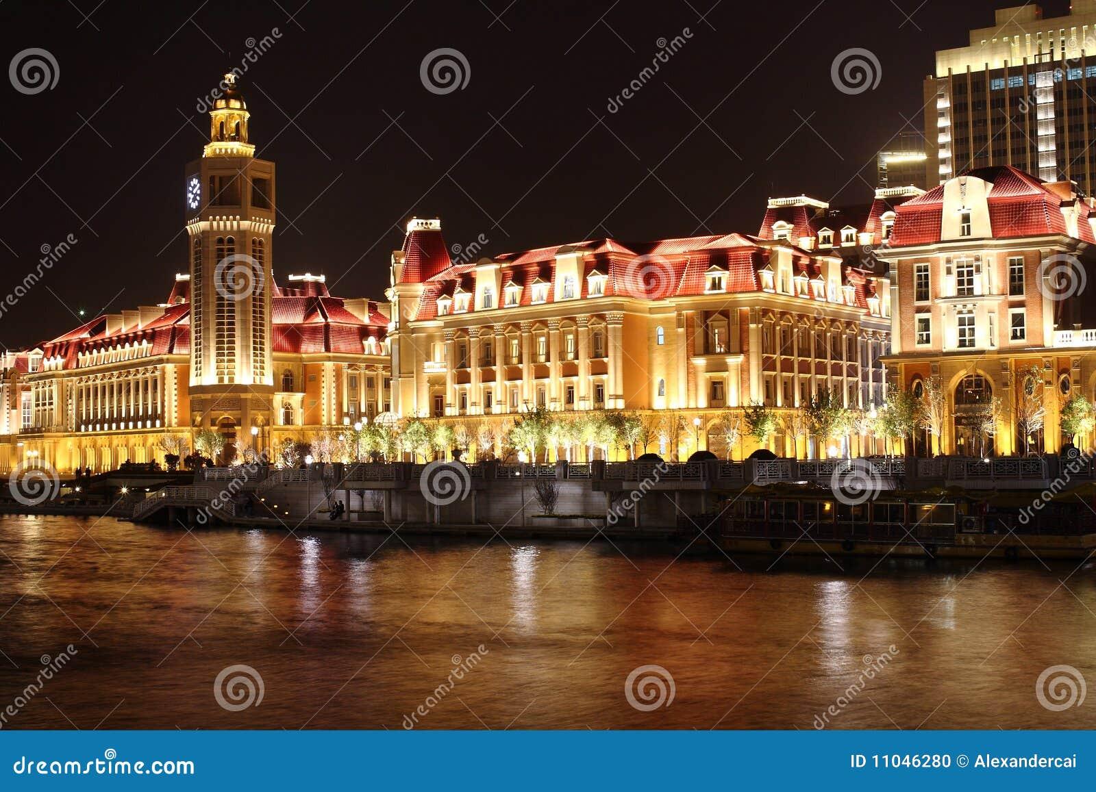 The beautiful nightscape in Tianjin