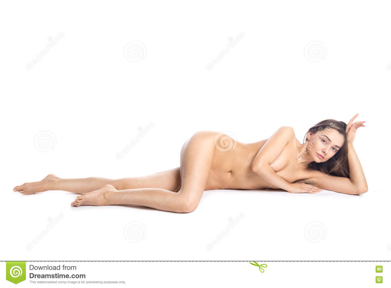 Hot nude girl with bass fish
