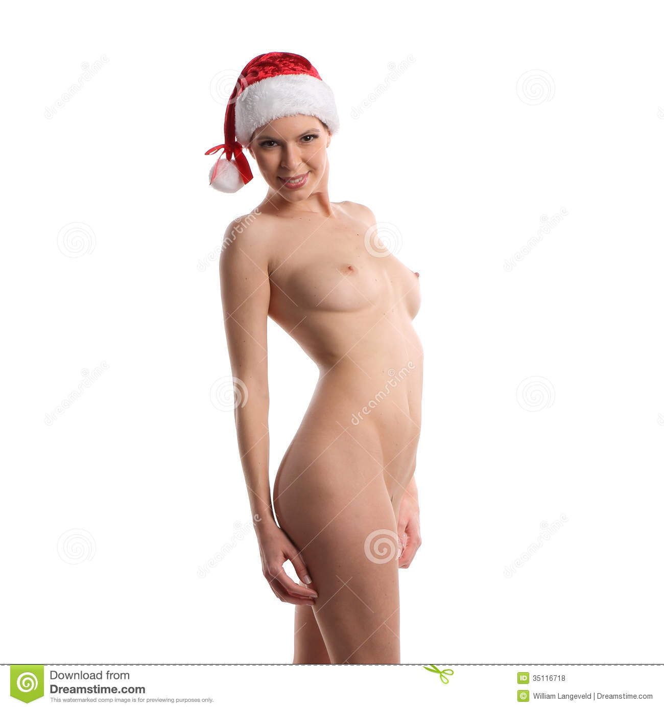 Beautiful Nude Or Naked Christmas Woman Royalty Free Stock -3843