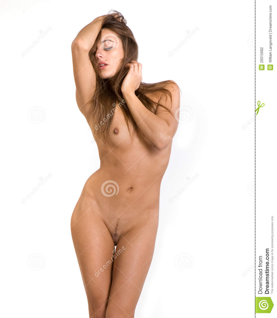 Women beautiful white background nude
