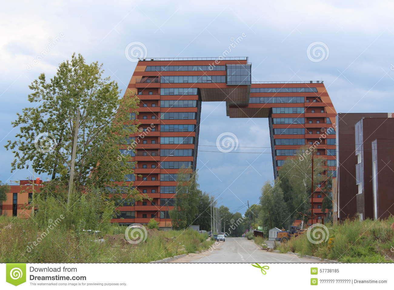 Beautiful Office Building Stock Image Image Of Road 57738185