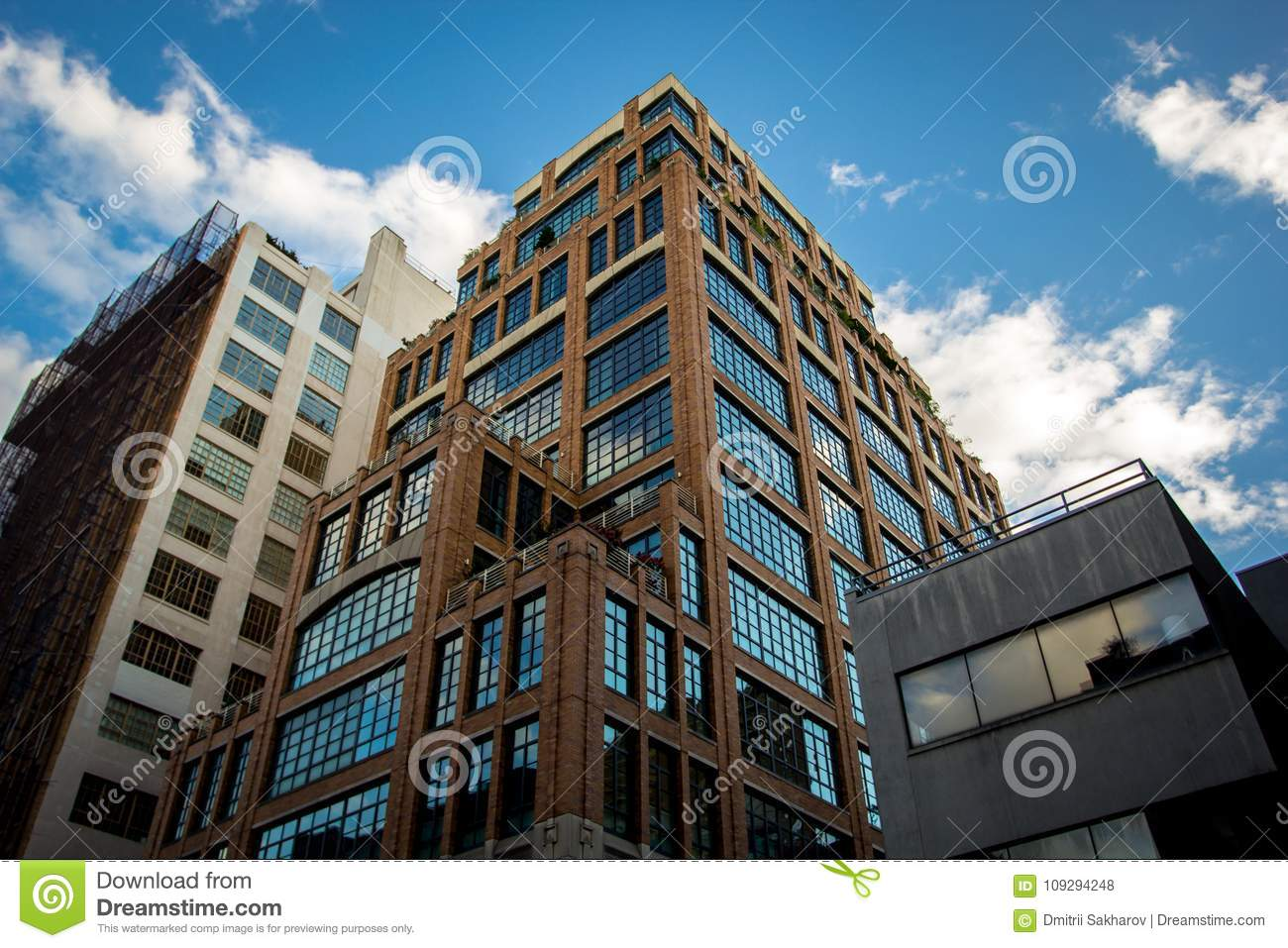 Beautiful Office Building In Tribeca District Manhattan New York