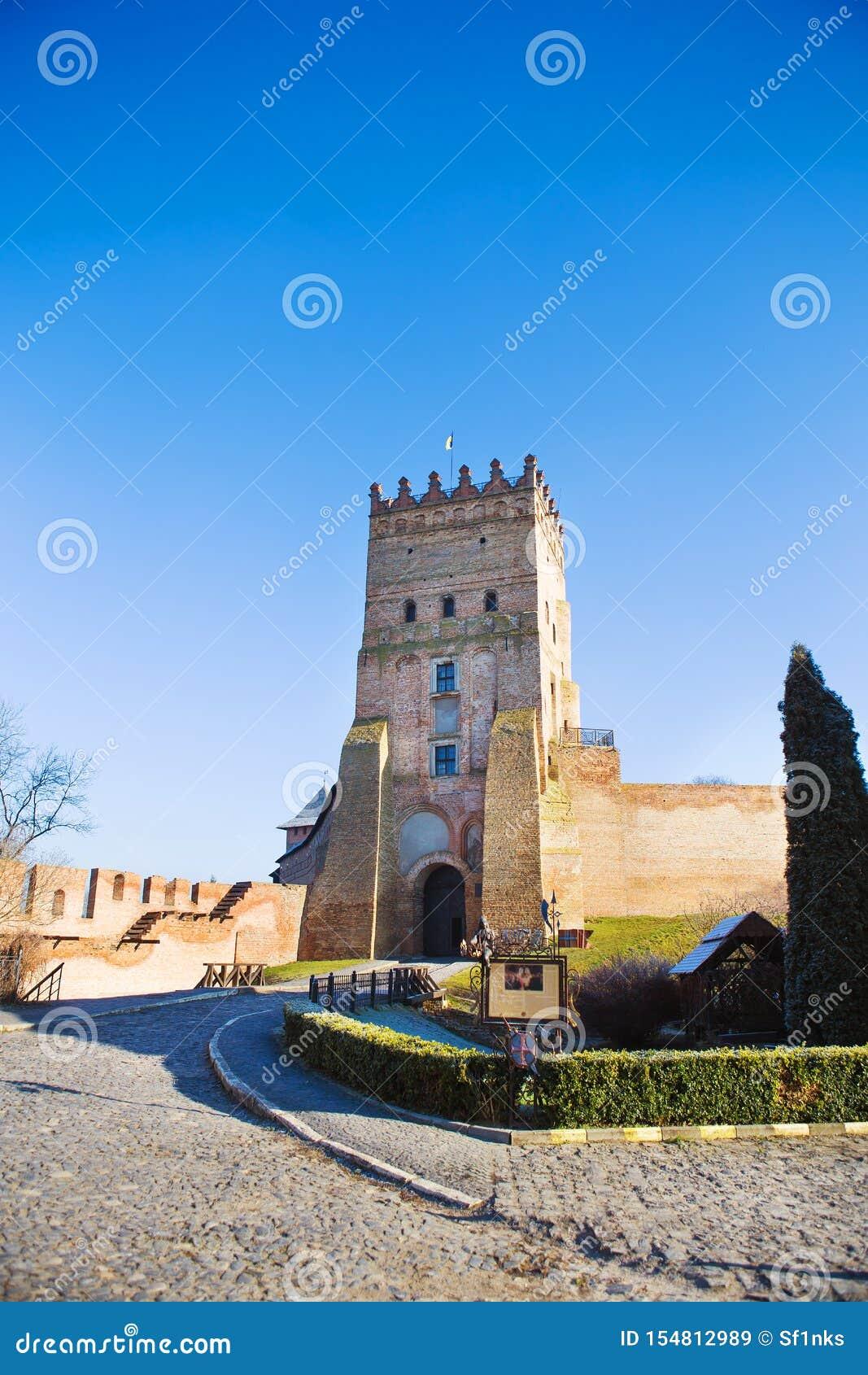 Beautiful old castle Lubart in Lutsk, Ukraine