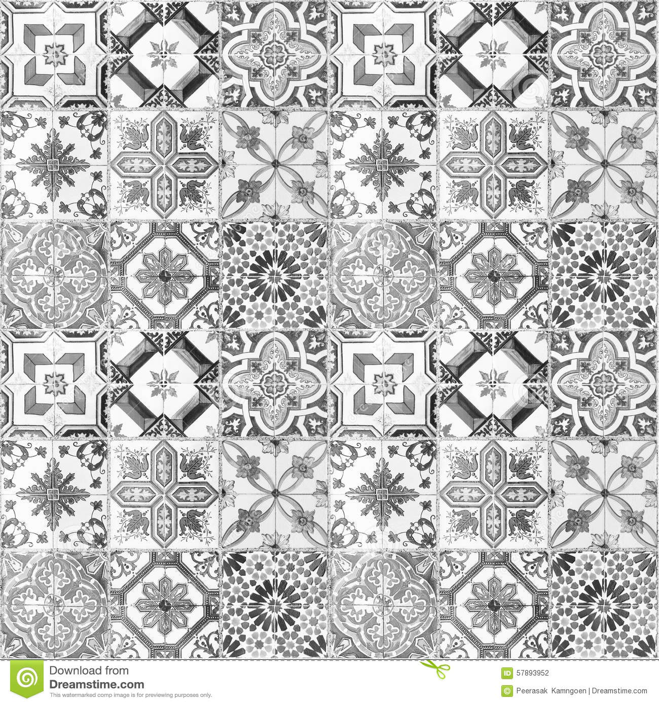 Designer White Abstract Ceramic Wall Tile Pack Of 8 L: Beautiful Old Ceramic Tiles Patterns Stock Illustration