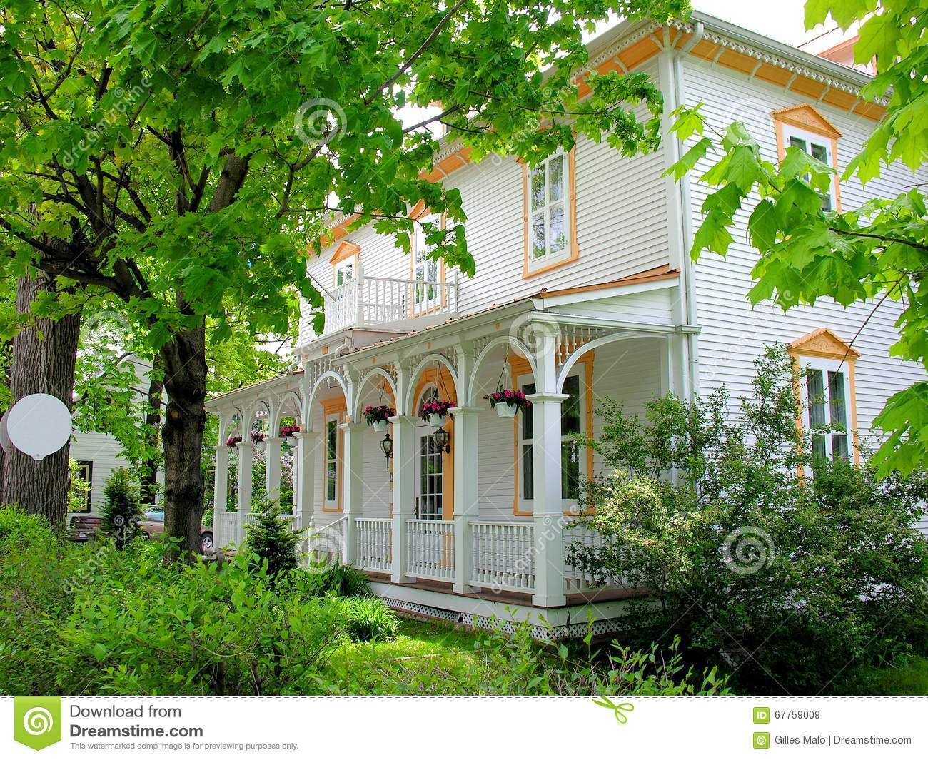 beautiful old house in small town canada stock image image of building house 67759009. Black Bedroom Furniture Sets. Home Design Ideas