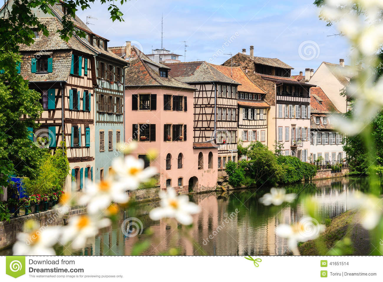 Beautiful old houses in strasbourg france stock photo for Beautiful classic houses