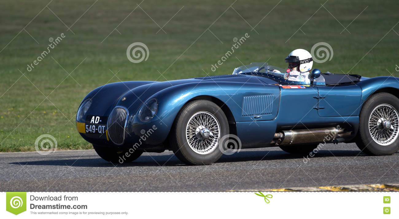 Beautiful Old Race Car Moving. Editorial Photography - Image of ...