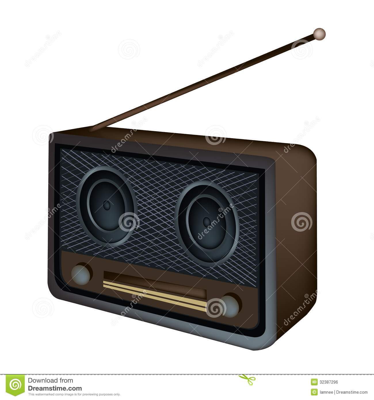 A Beautiful Old Radio ... Yes No Radio Button