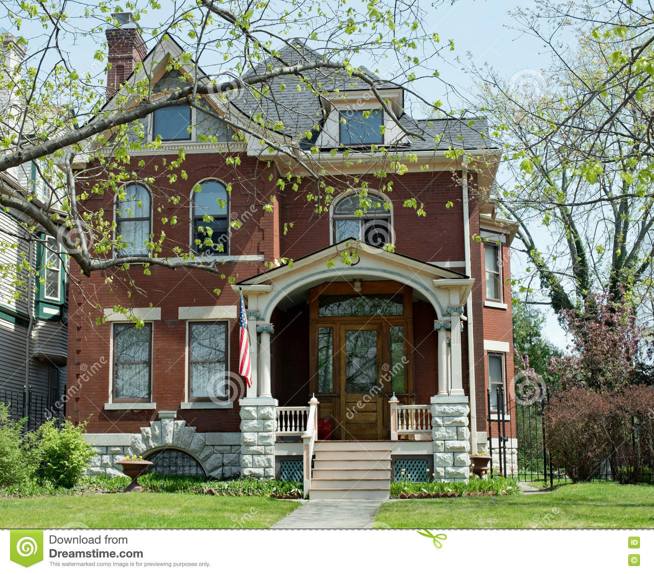 Beautiful Old Red Brick Home Stock Photo Image 70327818
