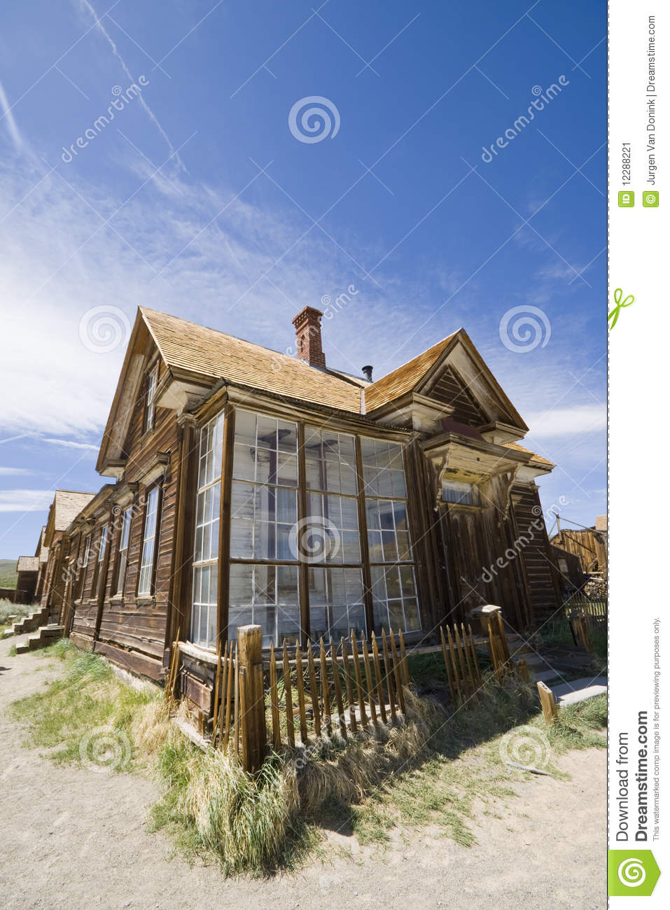 Beautiful Old Western Style House Stock Image Image Of