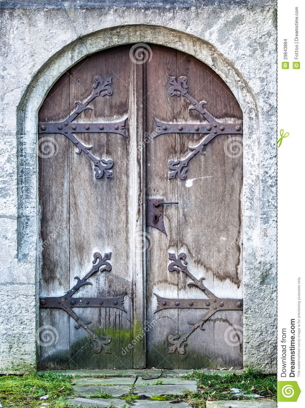 Old Wooden Door Stock Photo Image Of Stability Down