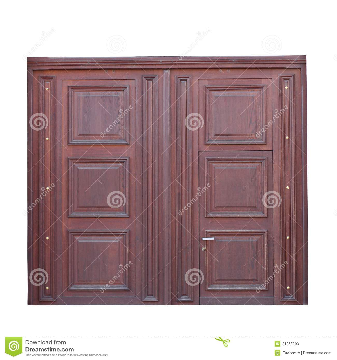 1390 #82A427 Closeup Of Beautiful Brown Wooden Door Cutout Over White. image Beautiful Wooden Doors 46731300