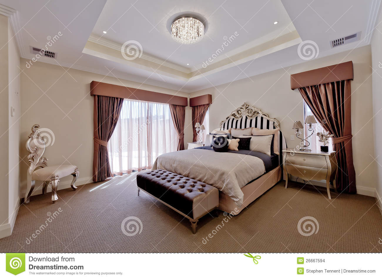 beautiful old world bedroom suite stock images image