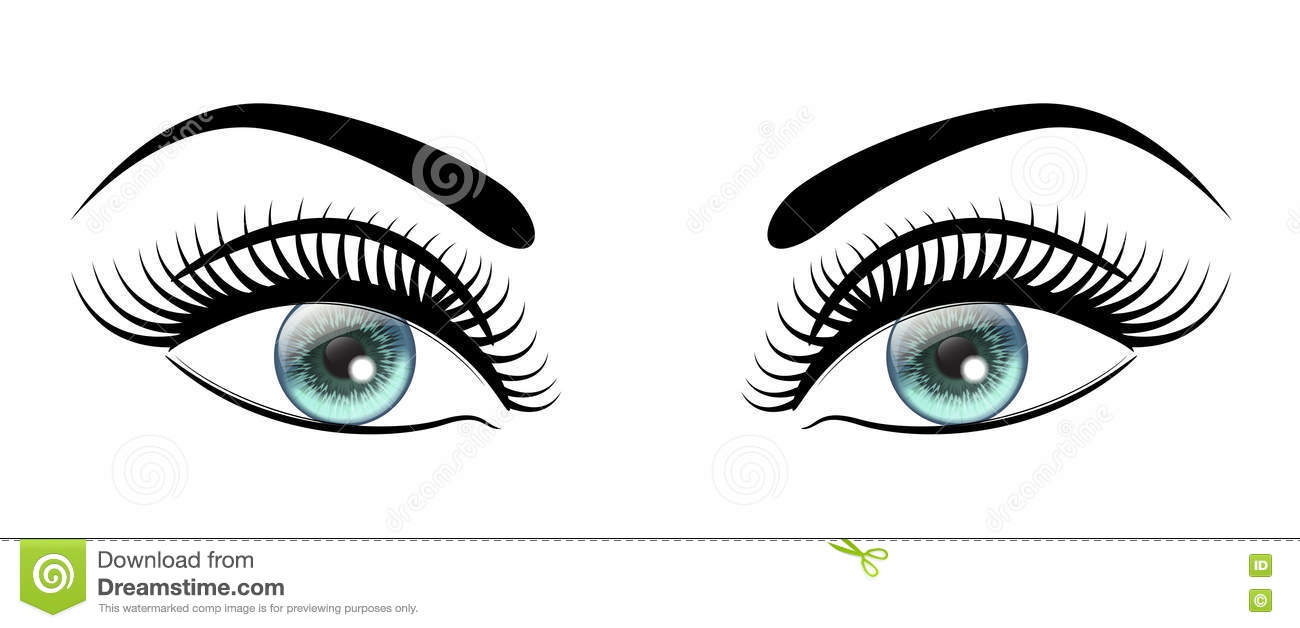 Beautiful Open Blue Eyes With Long Black Lashes The ...
