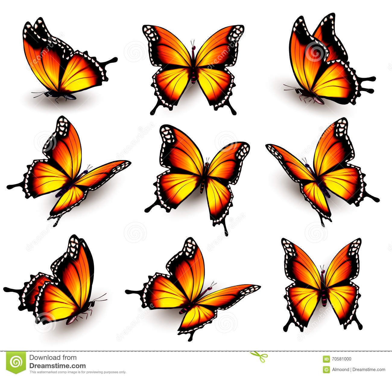 Yellow Butterfly Tattoo Designs