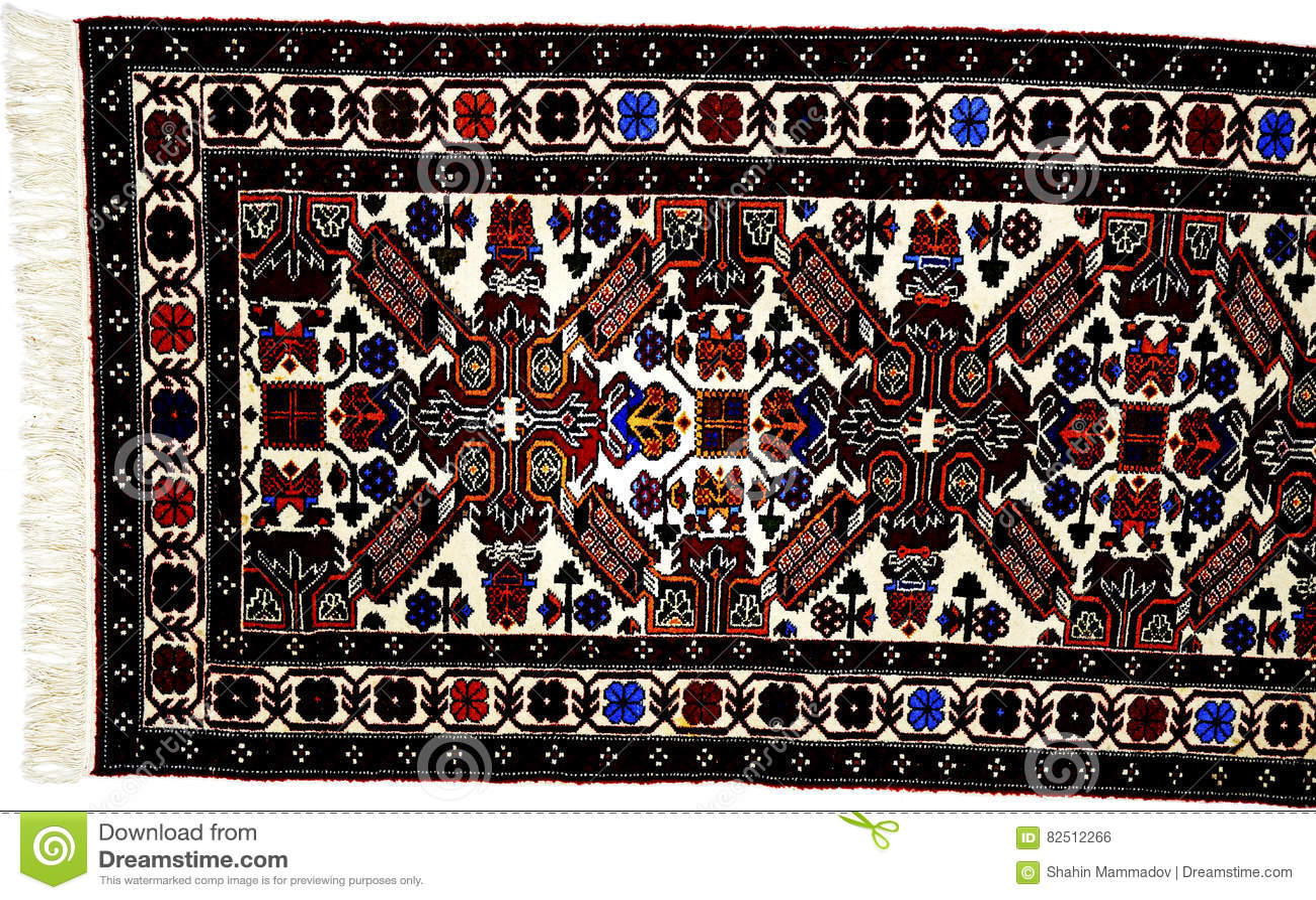 Beautiful Oriental Turkish Handmade Rugs On White Background
