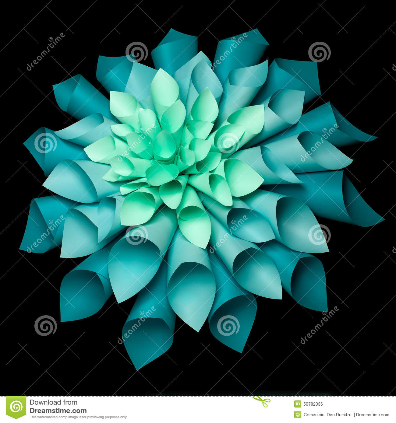 Beautiful Origami Flower Structure Stock Photo Image Of Craft