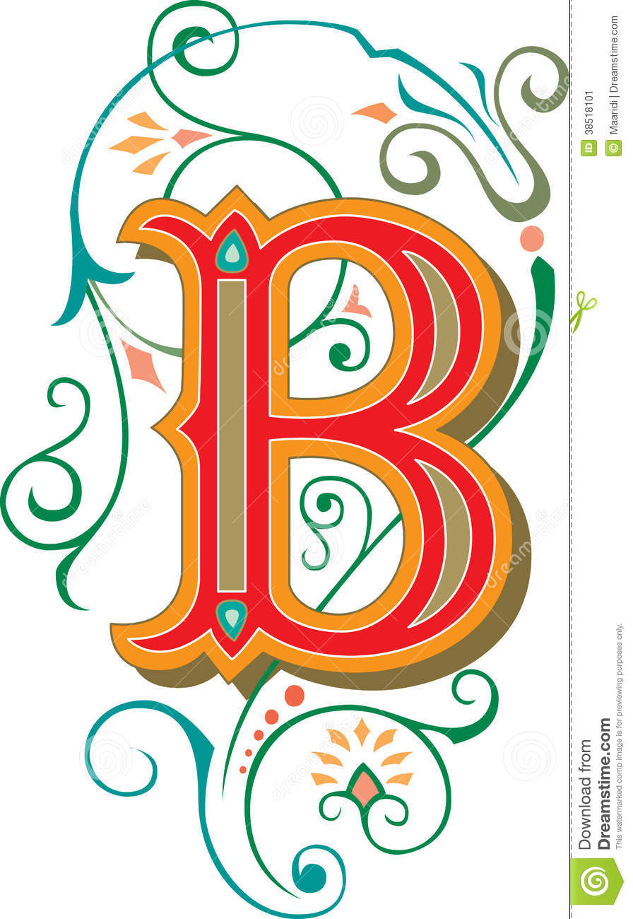 Beautiful Ornament, Letter B Stock Image - Image: 38518101