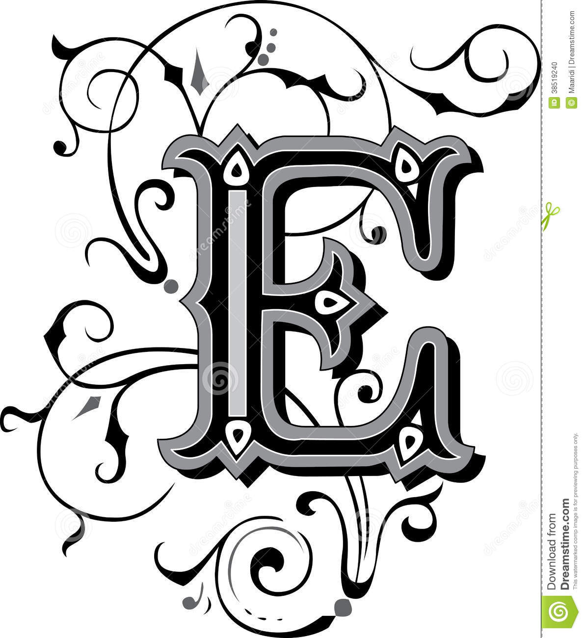 Beautiful Alphabet Letter Designs N Beautiful Ornament Letter N