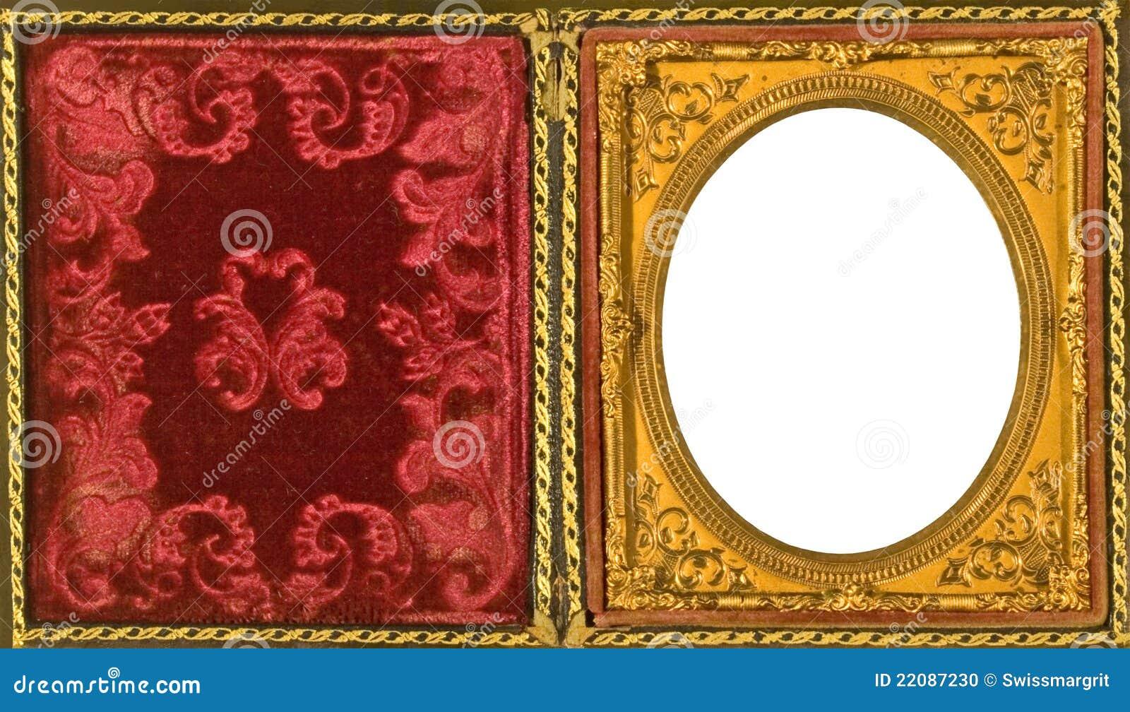 Beautiful Ornate Daguerreotype Picture Frame Stock Photo