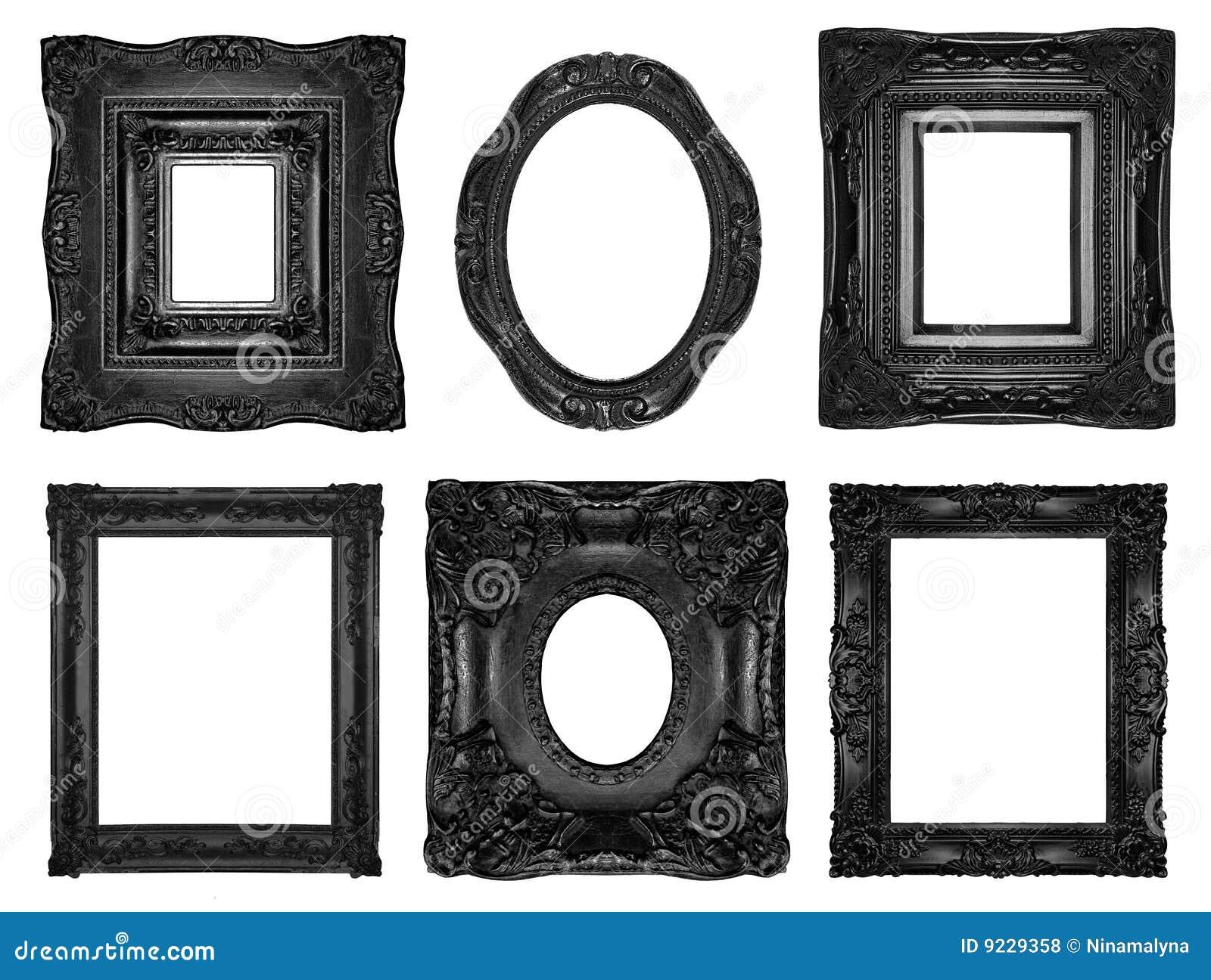 Beautiful ornate frames stock photo. Image of photographic - 9229358
