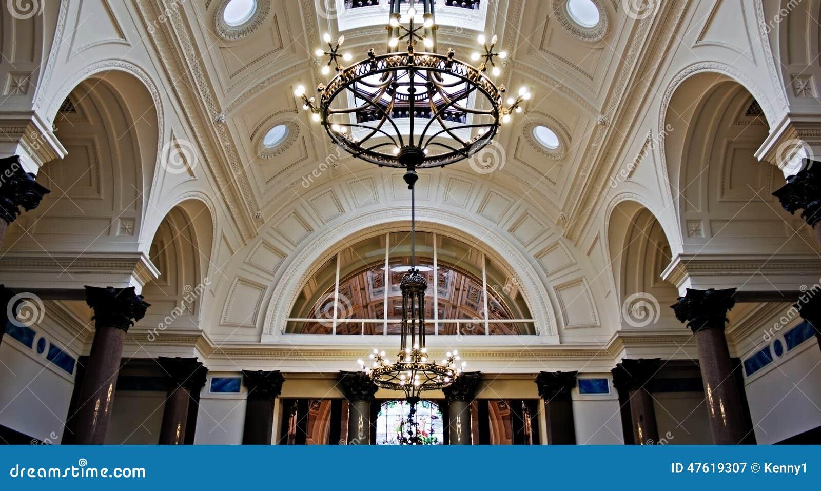 Beautiful ornate plaster ceiling