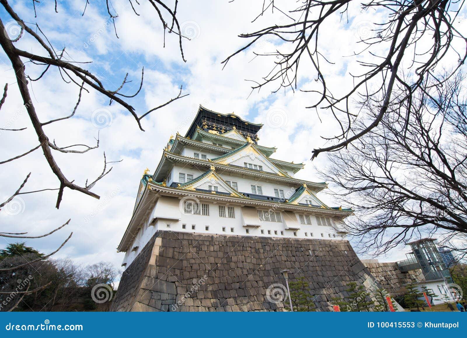 the beautiful osaka castle in winter of osaka japan stock. Black Bedroom Furniture Sets. Home Design Ideas