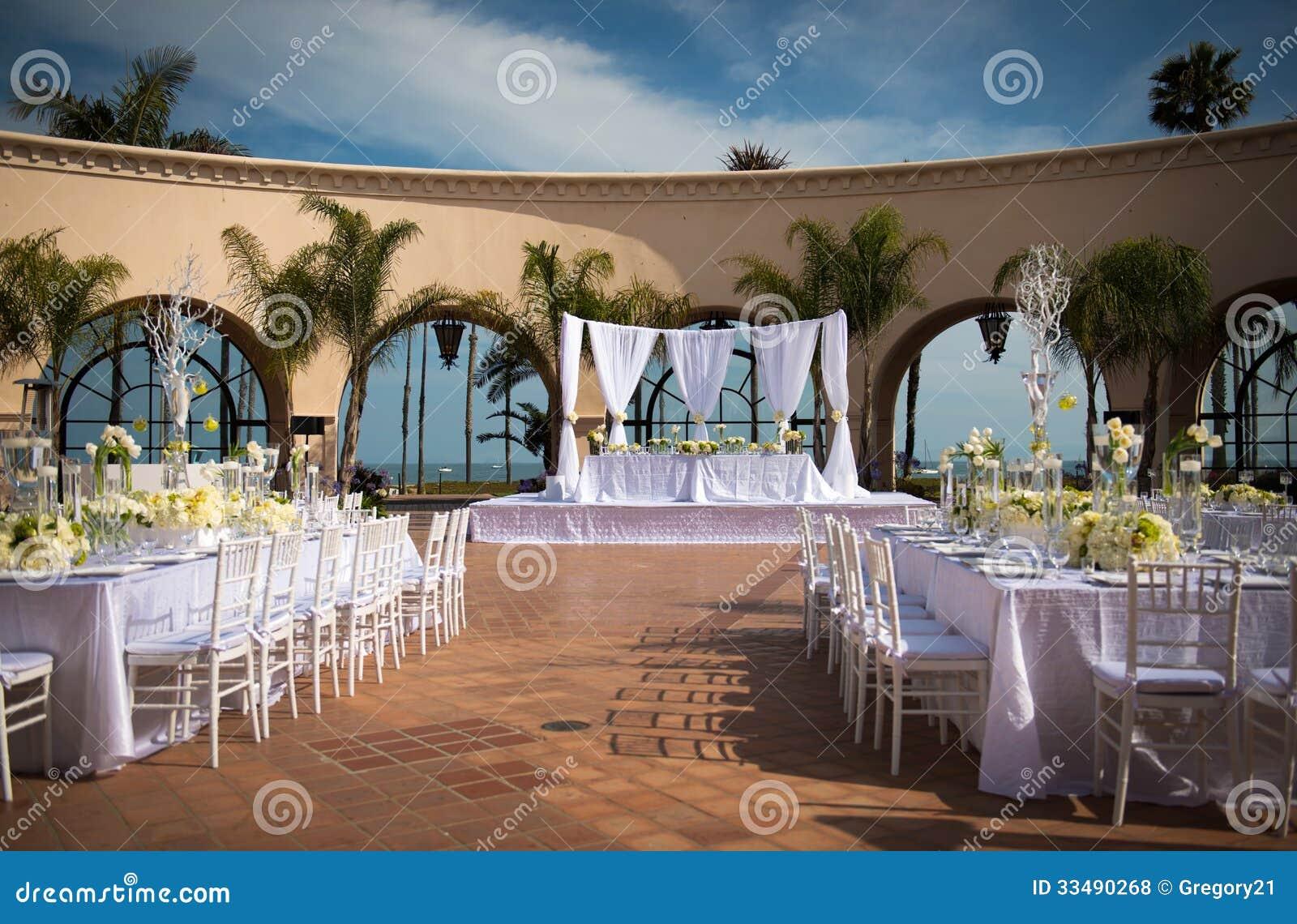 Beautiful Outdoor Wedding Venue Stock Photo - Image of ...