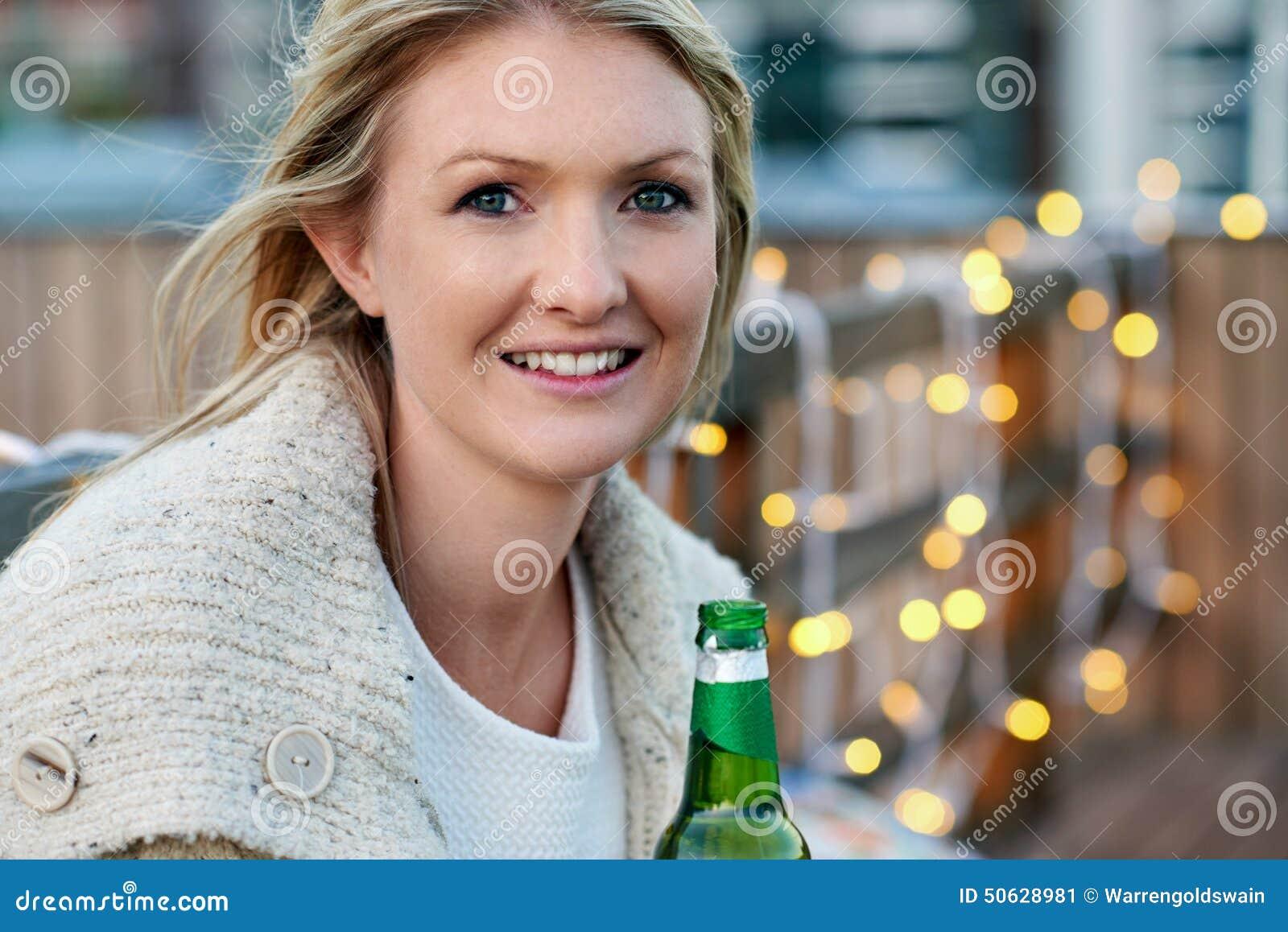 Beautiful outdoor woman