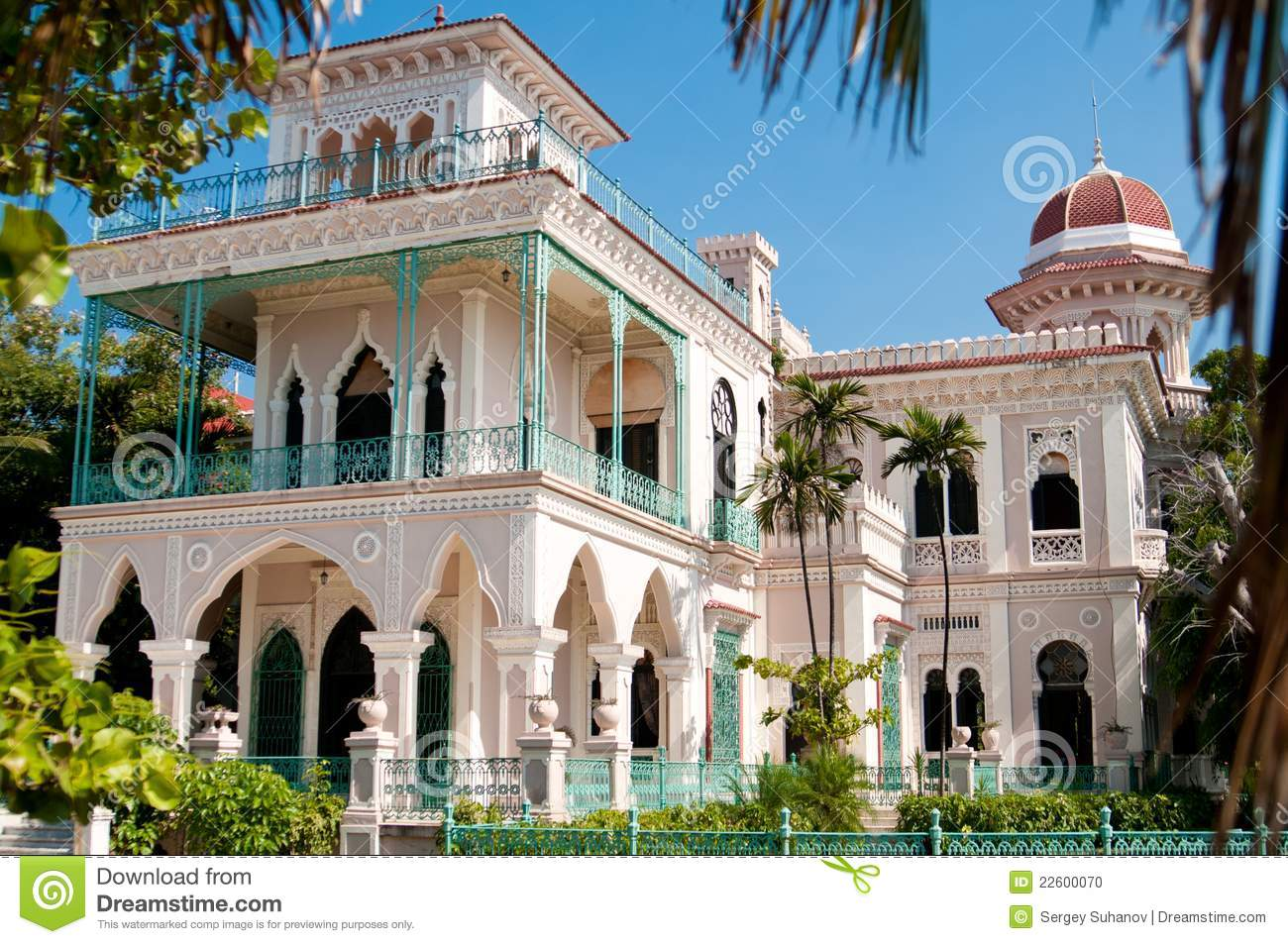 Bay window exterior shutters - Beautiful Palace In Cienfuegos Stock Photo Image 22600070