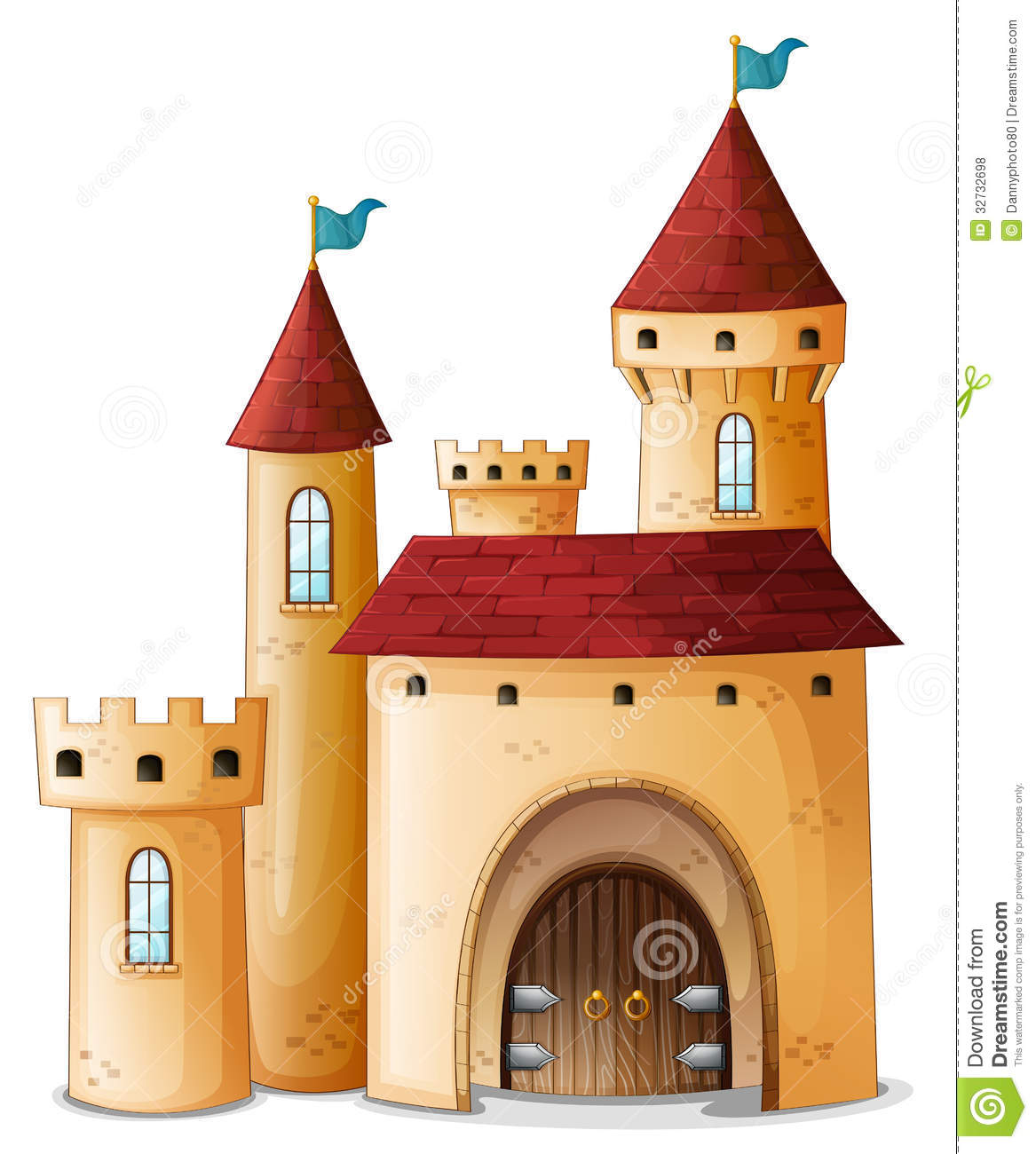 Stock vector of cartoon illustration castle isolated on white - A Beautiful Palace Royalty Free Stock Photos Image 32732698