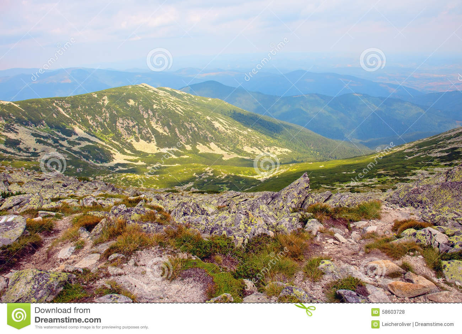 Beautiful panoram of Retezat mountains
