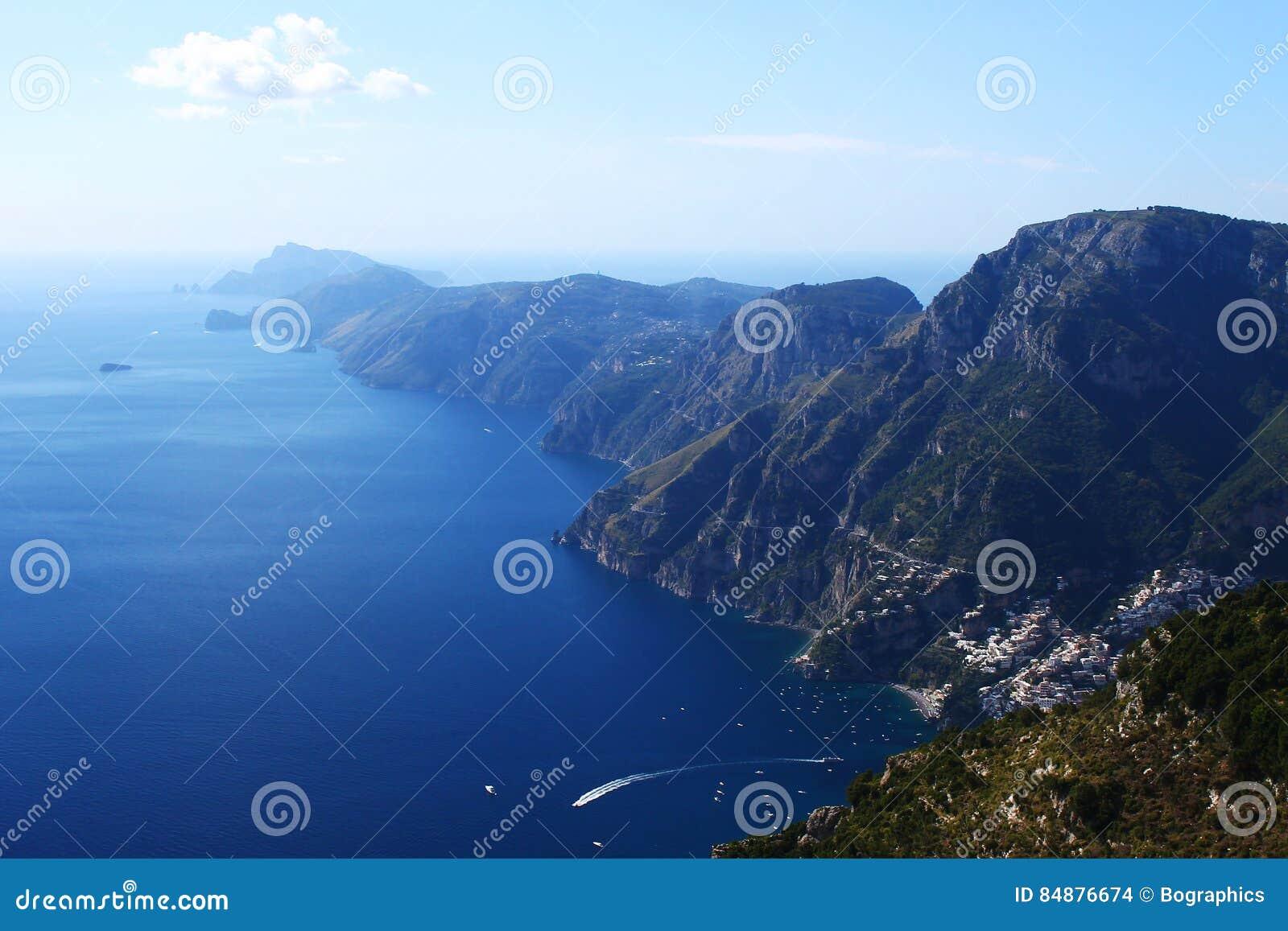 Beautiful panorama over Amalfi Coast