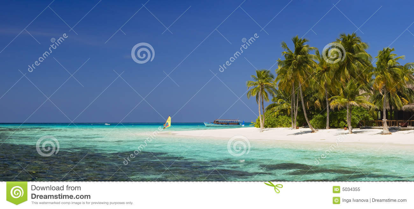 Beautiful panorama of tropical island