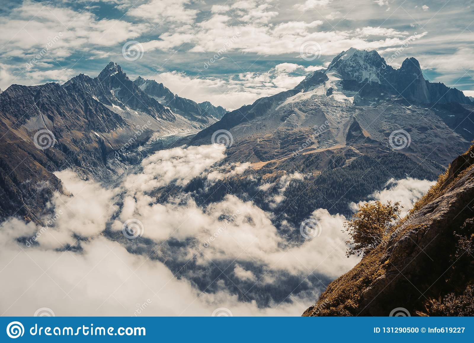 Beautiful panoramic nature in the mountains.