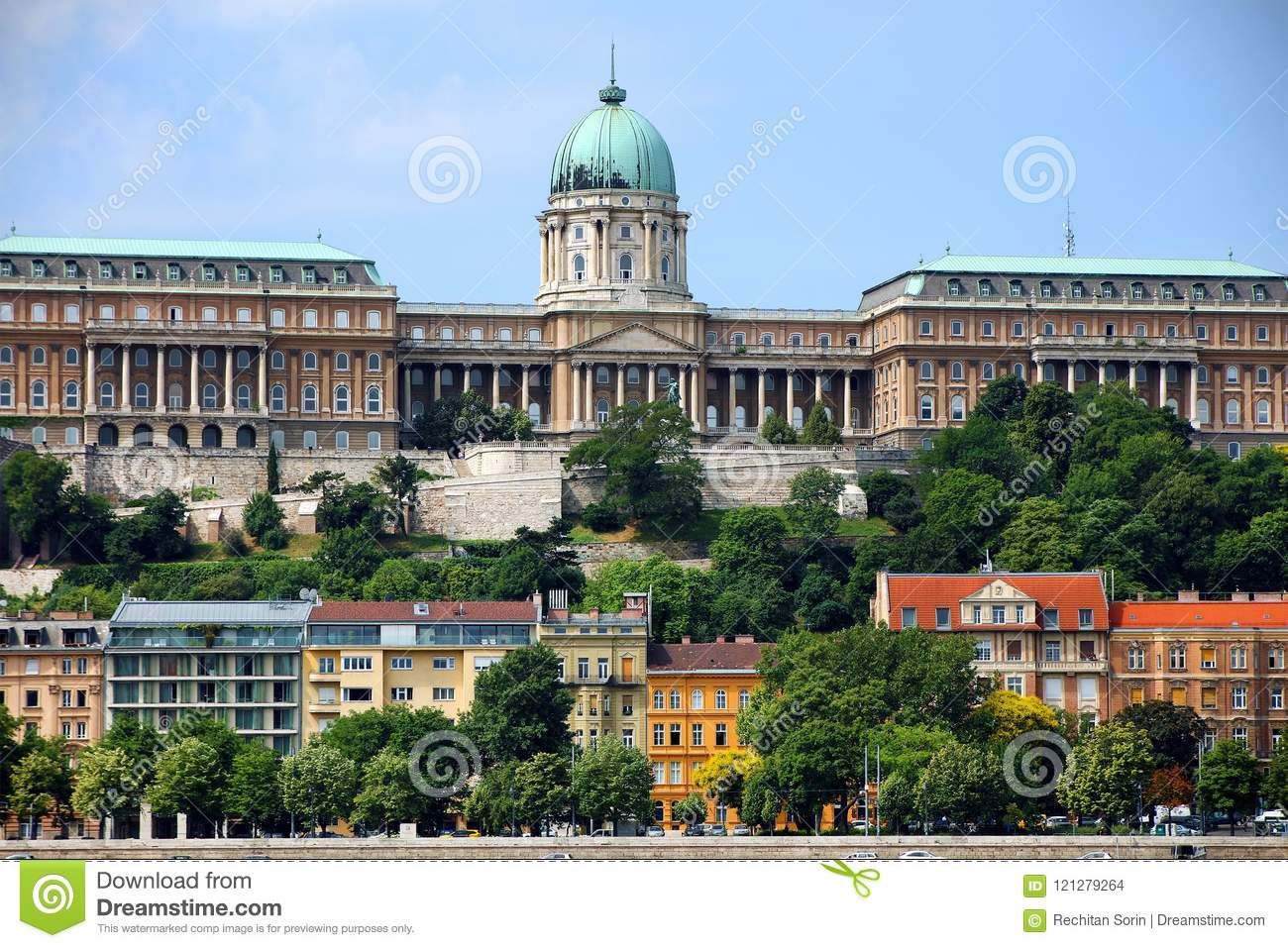 A beautiful panoramic view of Buda Castle