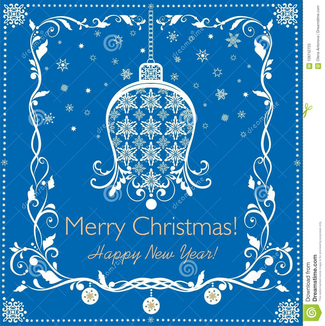 Beautiful paper blue applique for christmas and new year greetings download beautiful paper blue applique for christmas and new year greetings with hanging bell snowflakes m4hsunfo