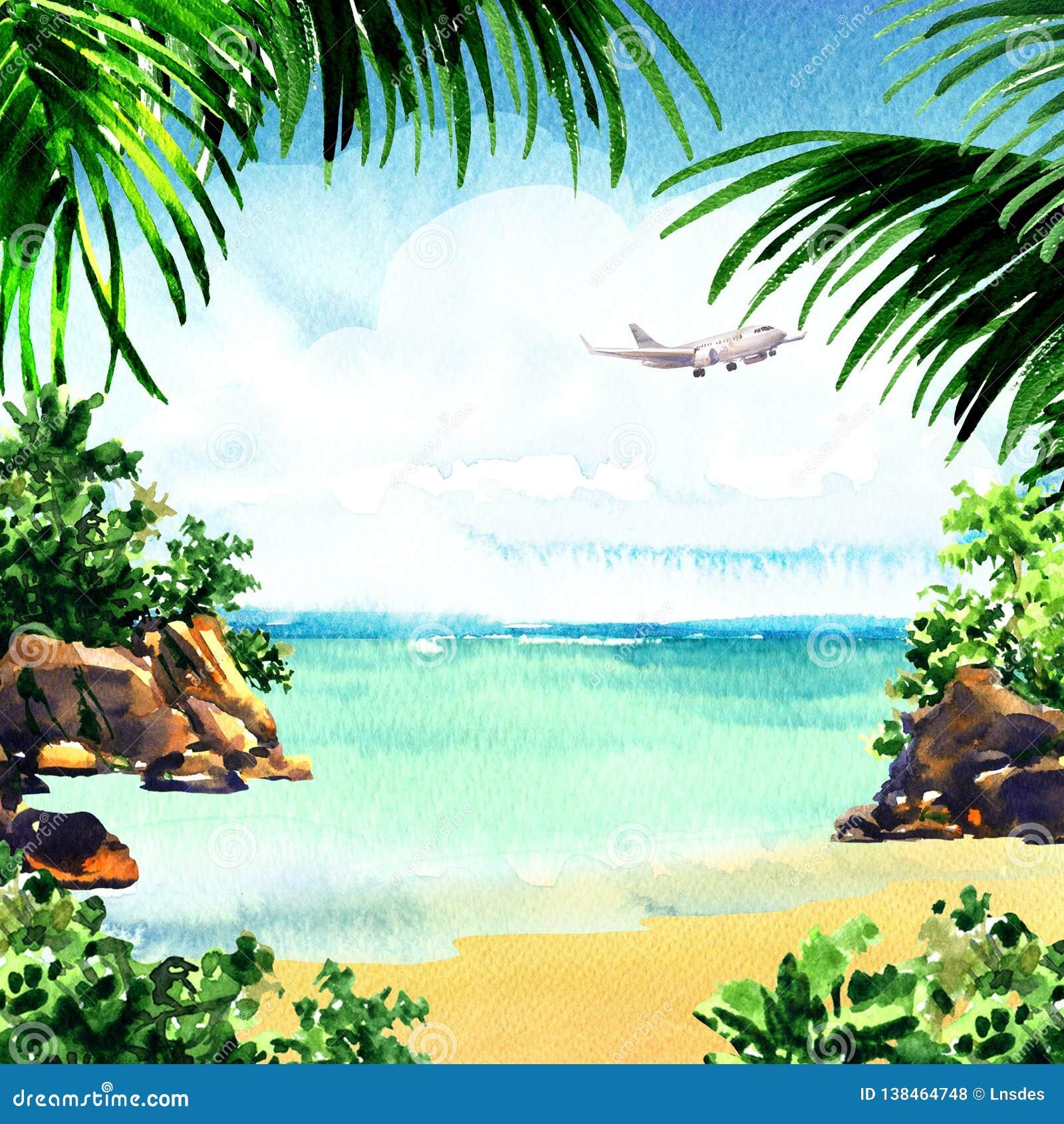 Tropical Island Paradise: Beautiful Paradise Tropical Island With Tropical Beach